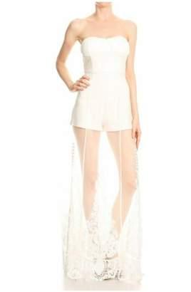 Tiny House Of Fashion White Romper Dress