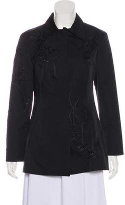 Alberta Ferretti Embroidered Wool & Silk Jacket