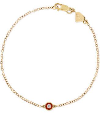 Alison Lou Salt 14-karat Gold, Diamond And Enamel Bracelet