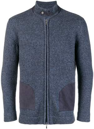 Doriani Cashmere knitted high neck cardigan