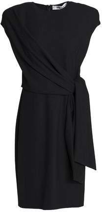 Knotted Crepe Mini Dress