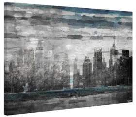 Parvez Taj Sunset in NYC Painting Print on Wrapped Canvas