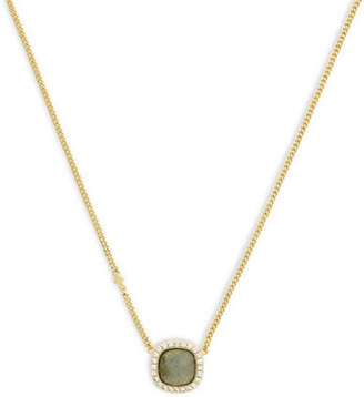 Cole Haan Summer Sunset Square Stone Pendant Necklace