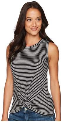 Lucky Brand Twist Front Rib Tank Top Women's Sleeveless