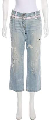 Dolce & Gabbana Embellished Mid-Rise Jeans