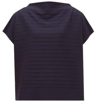 Issey Miyake Woody Ripple Striped Jersey Top - Womens - Navy