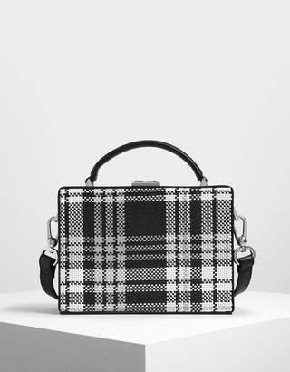 Charles & Keith Woven Boxy Bag