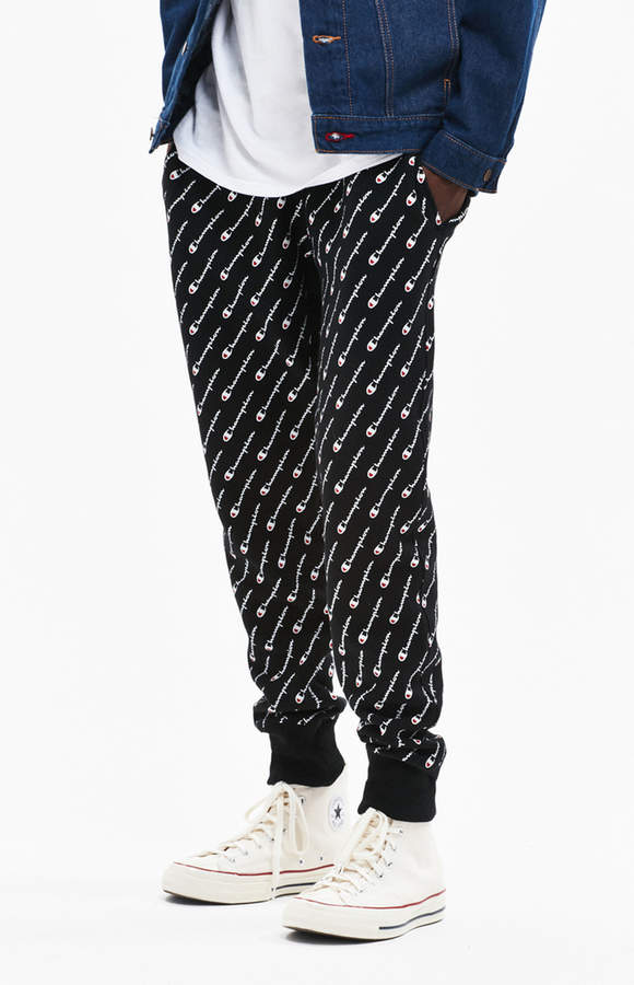 Champion Reverse Weave All Over Print Jogger Pants
