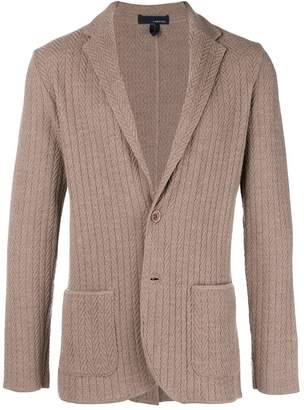 Lardini patterned blazer cardigan