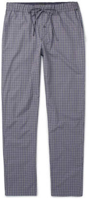 Hanro Checked Cotton Pyjama Trousers - Men - Gray