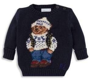 Ralph Lauren Baby Boy's Bear Graphic Cotton Sweater