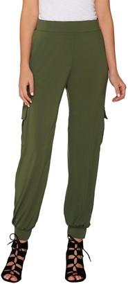 Lisa Rinna Collection Petite Banded Bottom Pants
