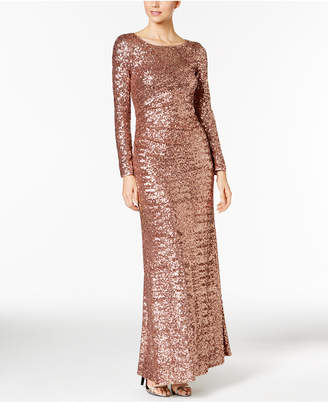 Vince Camuto Sequined Long-Sleeve Gown $308 thestylecure.com