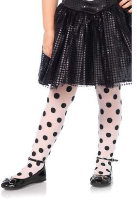 Leg Avenue Children's Polka Dot Tights, Medium, Age 4-6