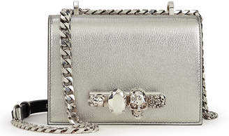 Alexander McQueen Jewelled Silver Satchel Bag