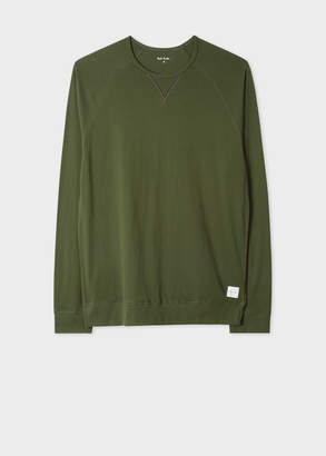 Paul Smith Men's Green Jersey Cotton Long-Sleeve Top