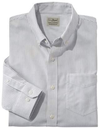 L.L. Bean L.L.Bean Men's Easy-Care Chambray Shirt, Traditional Fit Stripe