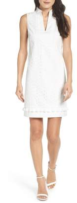 Eliza J Mandarin Collar Shift Dress