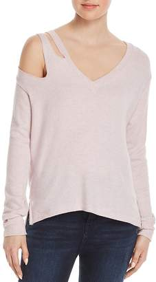 LnA Shoulder-Cutout Sweatshirt