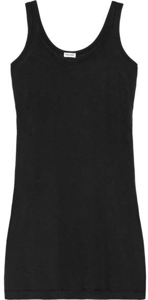 Splendid Cotton And Modal-blend Jersey Tank - Black