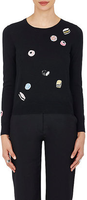 Marc Jacobs Women's Sequin Licorice Wool Knit Sweater $500 thestylecure.com