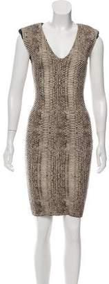Lanvin Silk-Blend Bodycon Dress