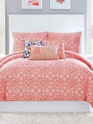 Vera Bradley Cuban Tiles Cotton Sateen Three-Piece Comforter Set