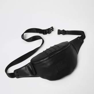 River Island Mens Black studded bum bag