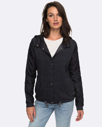 Roxy Womens Mystic Fall Sherpa Quilted Hooded Jacket