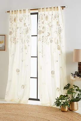 Anthropologie Embroidered Benet Curtain