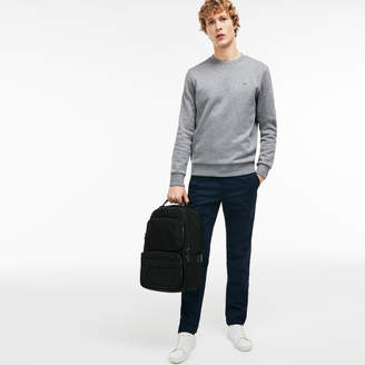 Lacoste Men's Pete Gusseted Lightweight Nylon Backpack
