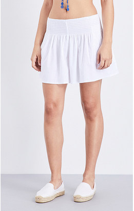 Seafolly Shirred woven skort $52 thestylecure.com