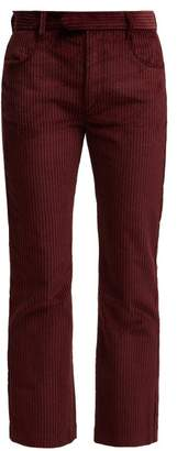 Isabel Marant Mereo High Rise Corduroy Trousers - Womens - Burgundy