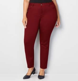 Avenue Plus Size Butter Denim Skinny Jean In Red