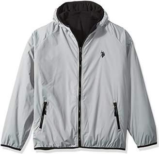 U.S. Polo Assn. Mens Reversible Poly Shell To Fleece Hooded Jacket
