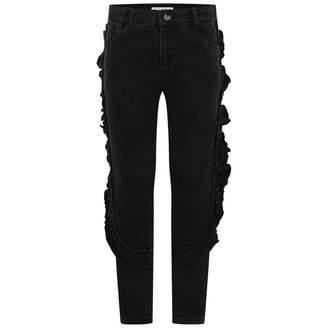 GUESS GuessGirls Black Ruffle Trim Jeans