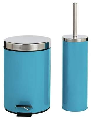 ColourMatch Slow Close Bin and Toilet Brush Set - Teal