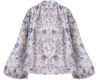 Thierry Colson Slava floral-print cotton blouse