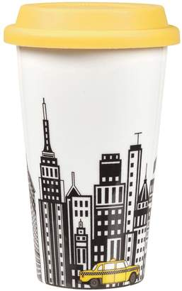 Portmeirion Cityscapes Travel Mug with Silicone Lid – New York
