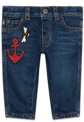 Baby denim pant with anchor $315 thestylecure.com