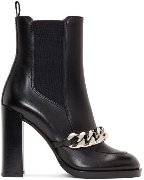 Givenchy Black Chain Chelsea Boots