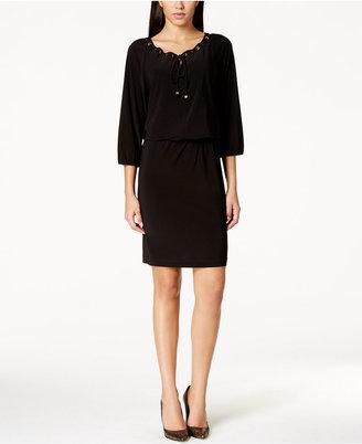 Nine West Grommet-Trim Blouson Dress $69 thestylecure.com