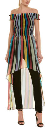 1st Sight Off-The-Shoulder Midi Dress