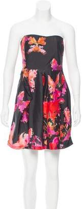See by Chloe Printed Strapless Dress