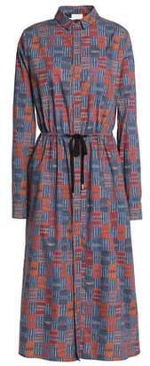 Stella Jean Printed Cotton-Poplin Midi Shirt Dress