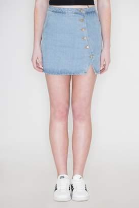 Honeybelle Honey Belle Button Denim Skirt