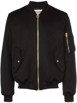 Moschino milano logo bomber jacket