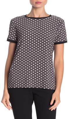 Anne Klein Carlyle Dot Print Button Back T-Shirt