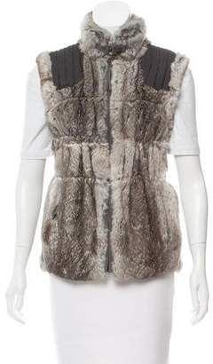 Jocelyn Knit Fur Vest