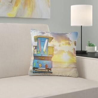 South Beach East Urban Home Seashore Miami Sunrise Pillow East Urban Home
